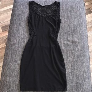 Sexy little black lace bodycon dress